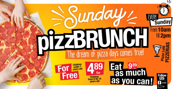 PIZZBRUNCH is here! The dream of unlimited pizza comes true!