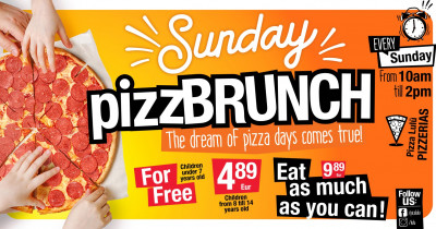 All you can eat PIZZABRUNCH is here!
