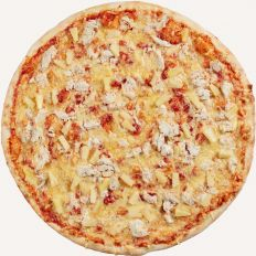 Photo Chicken pizza with pineapple