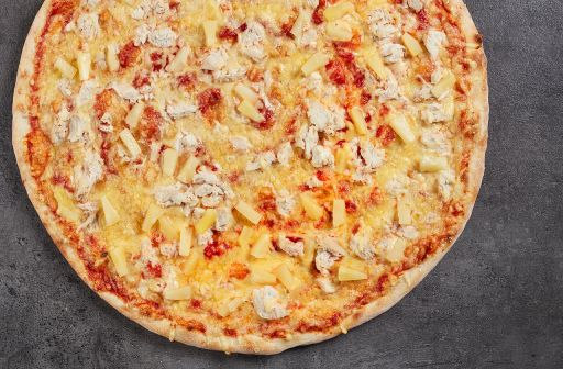 Chicken pizza with pineapple - 1
