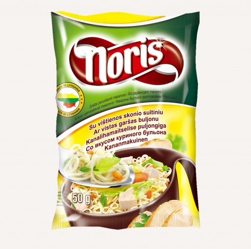 Fast-cooking pasta NORIS with chicken taste 50g - 1 - Pica Lulū