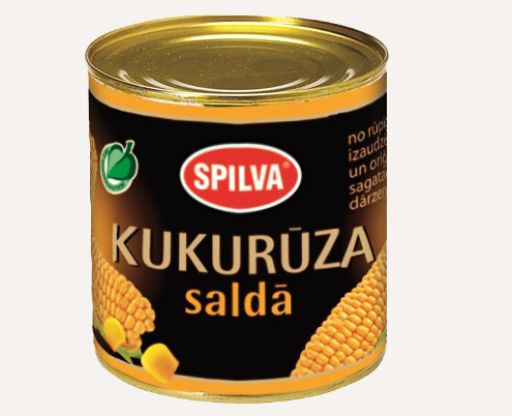 Canned sweet corn SPILVA 420ml - 1 - Pica Lulū