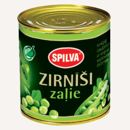 Canned green peas SPILVA 420ml - 1 - Pica Lulū