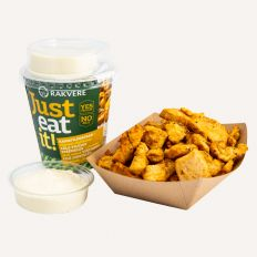 "Photo RAKVERE ""Just eat it"" chicken fillet strips with lemon aioli sauce 180g - Pica Lulū"