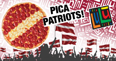 Patriot Pizza – Double the Excitement for Latvia's Celebration!