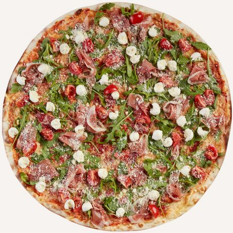 Photo of half a pizza