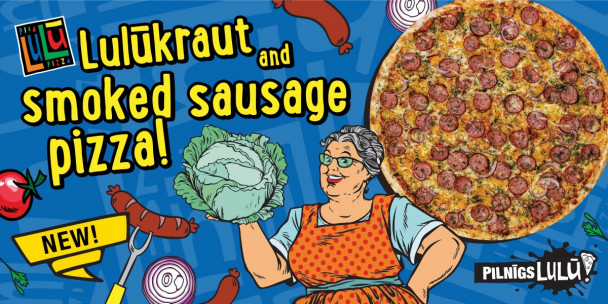 Our NEW Lulūkraut and smoked sausage pizza!